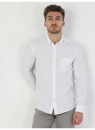 Colin's Colin'S Slim Fit Shirt Neck Uzun Kollu Erkek Gömlek Beyaz